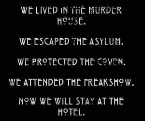 asylum, ahs, and hotel image