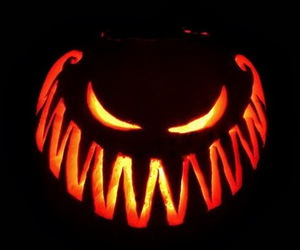 Halloween, scary, and pumpkin image