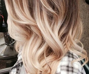 blonde, hair, and highlights image