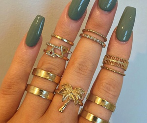 nails, rings, and green image