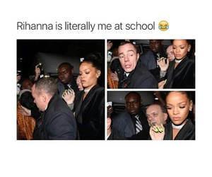 rihanna, school, and funny image