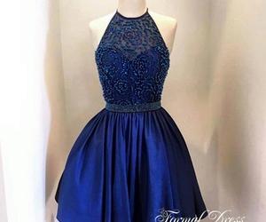 dress, blue, and blue homecoming dress image