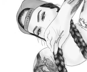 drawing, girl, and wonderland image