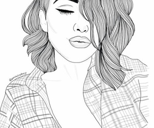 drawing, girl, and perfect image