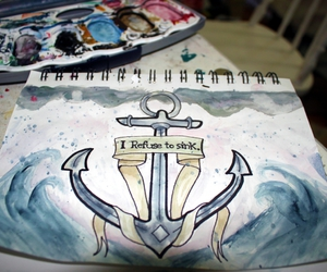 anchor, art, and draw image