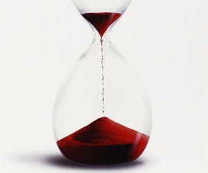 hourglass, red, and sand image