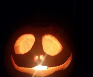 candlelight, Halloween, and jack o lantern image