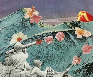 flowers, art, and peace image