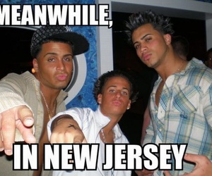 funny, New Jersey, and jersey shore image