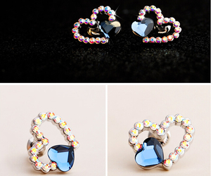 crystal, heart, and jewelry image