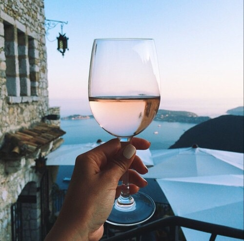 drink, glass, and wine image