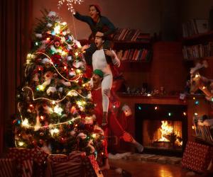 christmas, christmas tree, and funny image