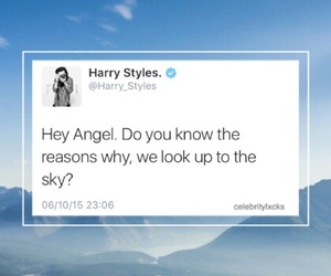 Harry Styles, one direction, and hey angel image