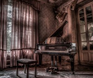 antique, music, and piano image