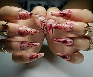 nails and halloween nails image