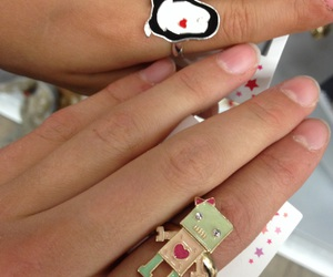 penguin, rings, and robot image