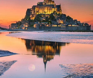 castle, reflection, and fairy image