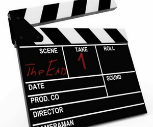 hearts, clapper board, and take one image