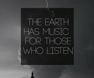 black and white, earth, and music image