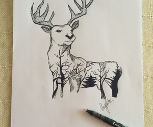 draw, fawns, and harry potter image