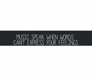 express, feeling, and music image