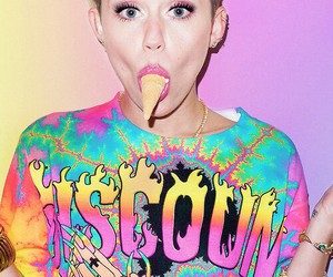 miley cyrus, miley, and ice cream image