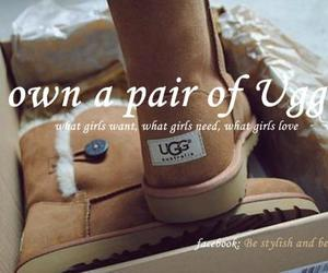 boots, brown, and uggs image