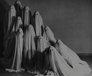 ghost, dark, and black and white image