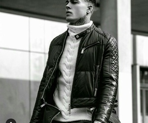 black and white, gentleman, and handsome image