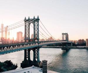 city, travel, and bridge image