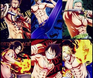 ace, Law, and anime image