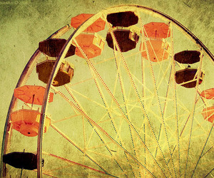 ferris wheel, cute, and photo image