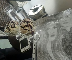 chocolate, drawing, and ice cream image