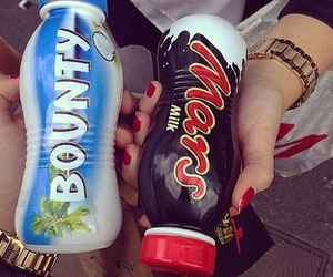 mars, bounty, and drink image