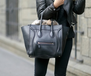 bag, black, and combine image