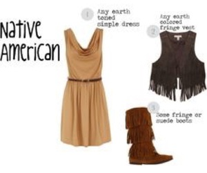 Halloween, diy costume, and diy indian costume image
