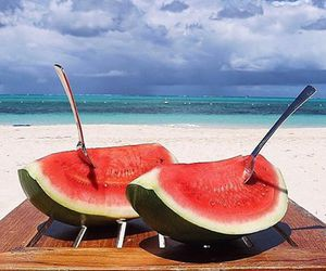 beach, luxe, and paradise image
