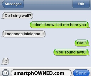 conversation, funny, and haha image