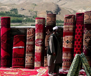afghan, carpet, and muslims image