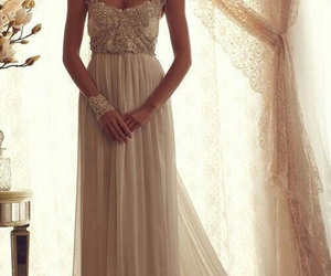 dress, wedding dress, and diamonds image