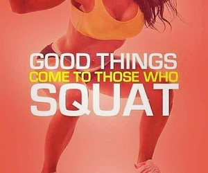 gym, squat, and workout image