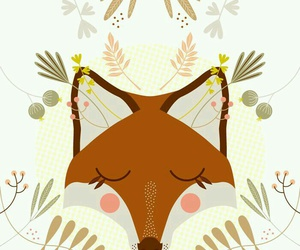 fox, art, and illustration image