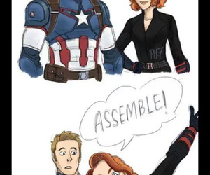 assemble, black widow, and captain america image
