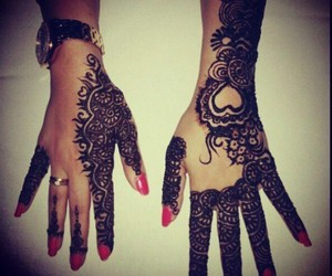 henna, heart, and nails image