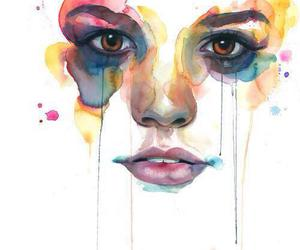 art, painting, and watercolours image