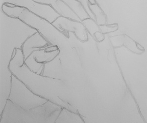 drawing, friendship, and hands image