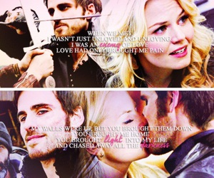 once upon a time, captain swan, and ️ouat image