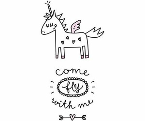 unicorn, fly, and wallpaper image