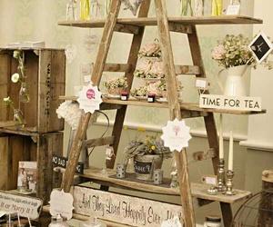 escalera, flores, and lindo image