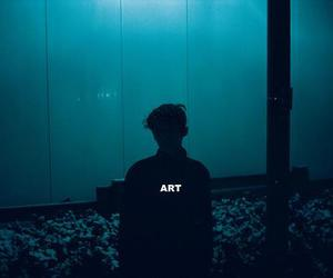 art, blue, and boy image